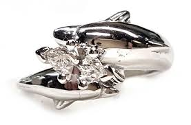 the dolphin bridal jewelry store ssjewels - Dolphin Engagement Ring