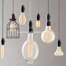 vintage industrial style dimmable st64 squirrel cage edison light