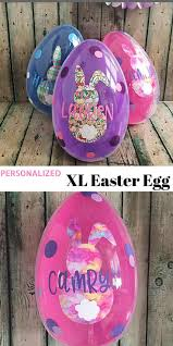 jumbo plastic easter eggs this unique easter basket idea personalized jumbo easter egg