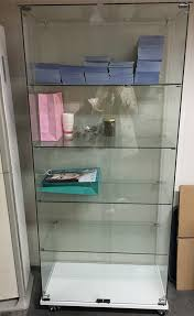 Glass Cabinet With Lock China Simple Clear Tempered Glass Cabinet Showcase With Lock For