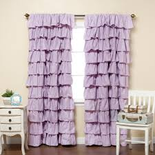 Purple Ombre Curtains Bathroom Maribella Pastel Ombre Ruffle Curtains For Pretty