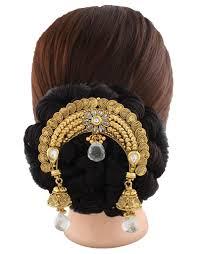 hair brooch design buy anuradha golden finish stylish beautiful designer