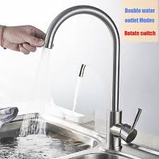 kitchen faucet outlet water outlet modes kitchen faucet stainless steel brushed