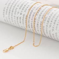 gold necklace chains wholesale images 1mm thin marina bead link womens chain ladies girls 18k gold jpg