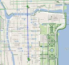 Chicago On The Map by Bike Walk Lincoln Park The Loop U0027s First Protected Bike Lane Is