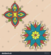 set 2 indian ornaments mandalasindian stock vector 58302814