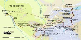 Silk Road Map Silk Road Holidays Central Asia Helping Dreamers Do