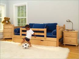 marvelous kids twin daybed with trundle added safety rails toddler
