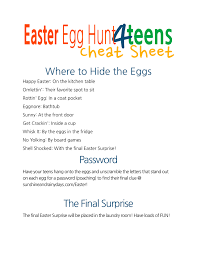 easter scavenger hunt a punny easter egg hunt for teens sunshine and rainy days