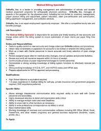 Medical Billing Resume Sample by Medical Billing Resume Examples Free Resume Example And Writing