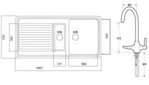 Size Of Kitchen Sink Size Kitchen Sink Island With Dishwasher - Kitchen sink small size