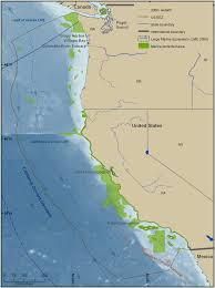 me a map of california california current large marine ecosystem cclme map also shows