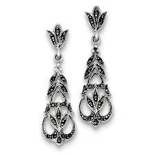 post type earrings 161 best marvelous marcasite images on marcasite