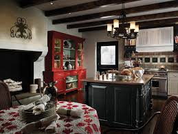 Barnwood Kitchen Cabinets Vintage Kitchen Design Added Brown Painted Oak Wood Cabinets