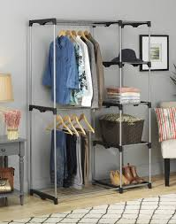 Shelf With Clothes Rod Review Whitmor 6779 3044 Double Rod Closet Silver Youtube