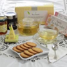 gift cookies tea forte gift sets tea gift set with honey cookies jam