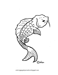 coloring pages for kids by mr adron printable koi fish coloring page