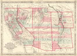 Map Of Utah by Johnson U0027s California With Territories Of Utah Nevada Colorado