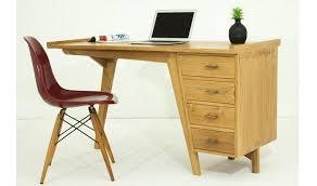 bureau teck massif bureau en teck massif design avec 4 tiroirs jarkarta