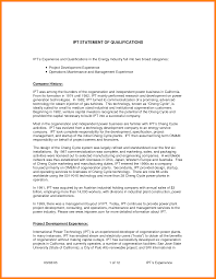 Business Buyout Agreement Template 6 Statement Of Qualifications Format Legal Resumed