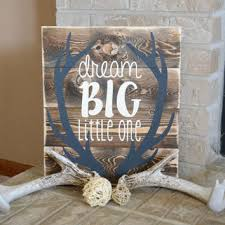 dream big little one wood sign antlers from heartnsouldesigns32
