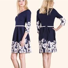 rochii casual rochii casual bleumarin imprimeu flori