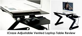 icraze adjustable vented laptop table review ilapdesk best
