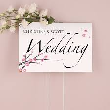 Cherry Blossom Wedding Cherry Blossom Wedding Sign The Knot Shop