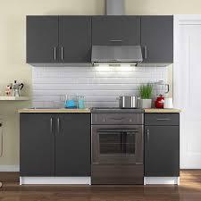 vente privee cuisine vente privee cuisine complète 180 cm gris mat 39606
