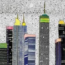 drucken illustration new yorker zeichnung artwork skyline wand