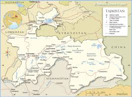 China Map Cities by Political Map Of Tajikistan Nations Online Project