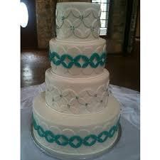 white turquoise wedding cake by sisita polyvore