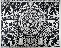 art artist anna howarth papercut papercutting folklore