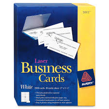 Best Business Card Company Avery Business Cards Ave05911 2500 Pack White Specialty