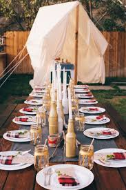 unique engagement party theme ideas glamping inspired engagement party