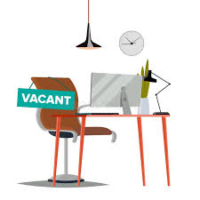 bureau d emploi vecteur de concept d offre d emploi blanc de sujet de bureau d
