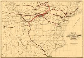 Toledo Map Old Map Atlantic And Great Western Railway 1866