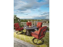 Patio Furniture Syracuse Ny by Ashley Signature Design Burnella Outdoor Round Fire Pit Table