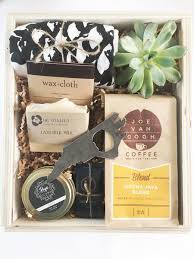 carolina gift baskets housewarming gift locally curated wooden gift box filled with