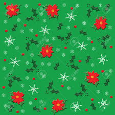 green christmas wrapping paper christmas wrapping paper poinsettias on green background stock photo