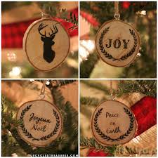 diy wood slice ornaments upcycled treasures