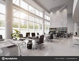 bureaux modernes intérieur bâtiment bureaux modernes concept rendu photographie