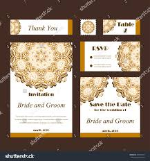 Card For Wedding Invitations Set Wedding Invitations Wedding Cards Template Stock Vector