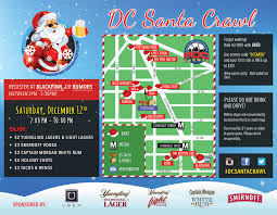 Metro Map Washington Dc The Dc Santa Crawl 2015 Route Map U2013 Washington Dc
