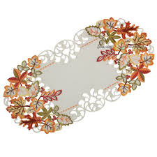 Fall Table Runners by Autumn Fall Tablecloth Table Runner Doily White Green Red Orange