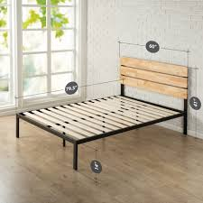 Solid Wood Platform Bed Frame Bed Frames Rustic Platform Bed With Drawers King Size Platform