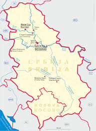 Map Of Serbia Thomas U0027s Glassware Tour Serbia Srb