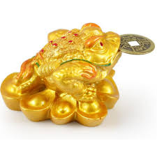feng shui money lucky fortune wealth for frog toad coin