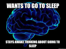 Scumbag Brain Meme Generator - wants to go to sleep stays awake thinking about going to sleep
