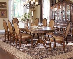 aico lavelle melange oval pedestal dining set ai 54302set
